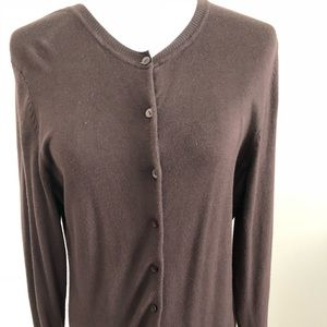 Chocolate brown button down sweater